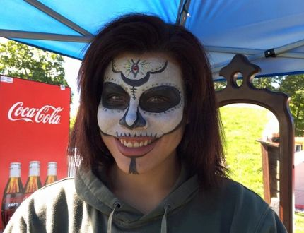 Submitted photo Face painting is one of the popular activities for kids and adults at the Voodoo RockFest being held at the Napanee Fairgrounds on Friday, Sept 22 and Saturday, Sept 23.