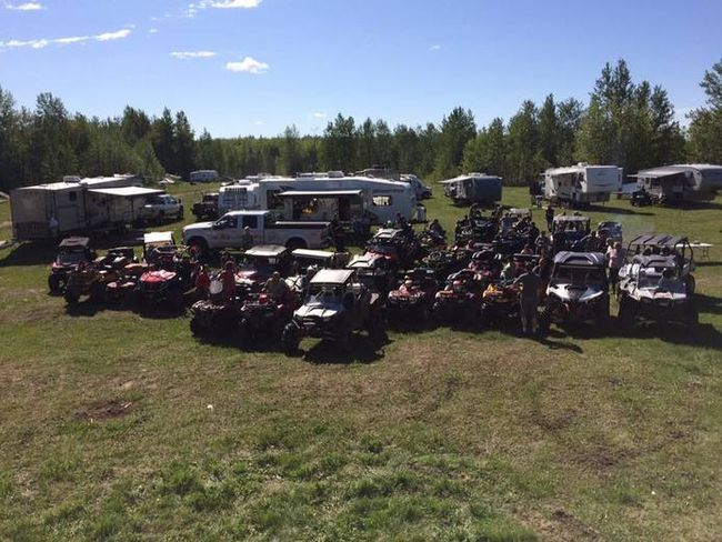 Members of the Whitecourt ATV club ride around Hidden Lake in 2016. The club is close to getting approval for its first trail, which will go to Windfall (Submitted photo).