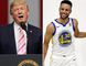 U.S. President Donald Trump is withdrawing an invitation to Stephen Curry of the NBA champion Warriors. (Brynn Anderson/Marcio Jose Sanchez/AP Photos)