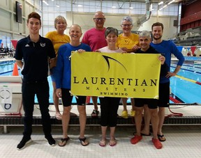 Members of Laurentian Masters finished in the top 25 out of 60 clubs at the 2017 MSO Provincial Championships. The meet last March at the Markham Aquatic Centre was the last of the MSO Championships, thanks to changes with Swim Ontario. Photo supplied.