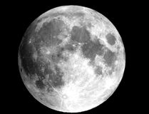 The full Moon - showing the 'Lady in the Moon.' Photo and diagram by John Hlynialuk