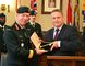 To mark Invictus Day in Stratford on Saturday, Mayor Dan Mathieson presented Brig.-Gen. Mark Campbell, a native of Stratford, with the key to the city.