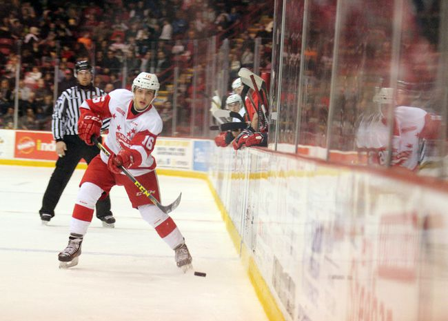 Soo Greyhounds centre Morgan Frost (Postmedia Network file photo)