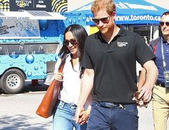 Prince Harry and Meghan Markle at Nathan Phillips Square. (DAVE ABEL, Toronto Sun)