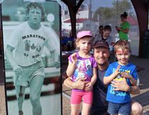 Participating in the annual Terry Fox Run has become a bit of a tradition for the Chartrand family. Luc Chartrand took part in his 28th run this month, while daughter Lydia, 6, has been in seven and Nathanael, 5, was in his fifth. Nugget File Photo