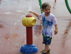 <p>Two-year-old Ryker Forsey knew how to keep cool on Tuesday September 26, 2017 in Cornwall, Ont. Tuesday marked day four of an unusual fall heat wave.</p><p> Lois Ann Baker/Cornwall Standard-Freeholder/Postmedia Network