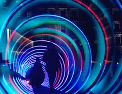 An 84-foot-long interactive tunnel that has music and changes colours will be part of the 2017-18 Winter Festival of Lights season in Niagara Falls. (PHOTO SUPPLIED BY WINTER FESTIVAL OF LIGHTS)