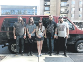 Whoop Szo, comprised of Joe Thorner, left, Andrew Lennoix, Kirsten Kurvink Palm, Adam Sturgeon and Eric Lourenco, plays at the corner of Richmond and Dundas Friday at 10 p.m. (Special to Postmedia News)