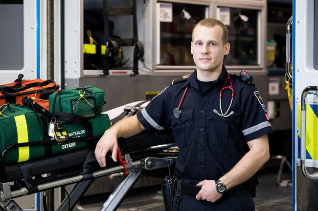 Loyalist College Photo Damian Orlowski has been a paramedic with Region of Waterloo Paramedic Services for two years. Orlowski graduated from Loyalist College's alternate delivery paramedic program.