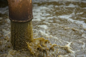 Sewage water is aerated at the Greenway Pollution Plant (Free Press file photo)
