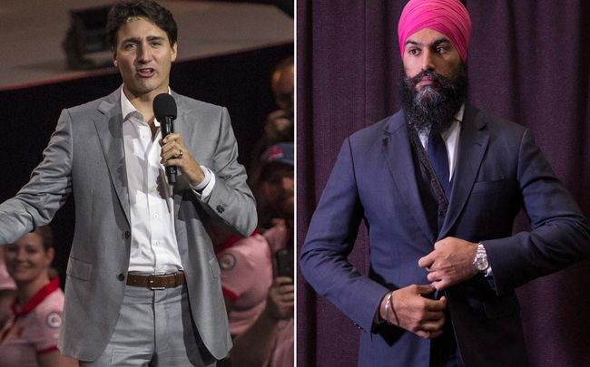 Prime Minister Justin Trudeau (left) and the new leader of the NDP Jagmeet Singh (right). (Euan Cherry/Chris Young/WENN.com/The Canadian Press)