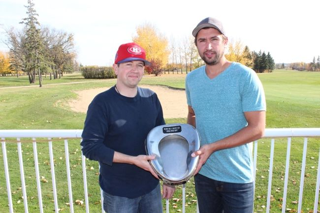(L to R) Richard Jackson and Garrett Wehrkamp claimed the Ryder Cup title at the Melfort Golf and Country Club on Sunday, October 1.