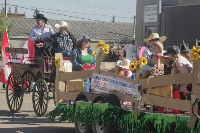 A float from the 2017 Mayerthorpe Agricultural Fair parade. The fair is run by the Mayerthorpe Agricultural Society, which was faced with a delay in provincial grant funding this year (Joseph Quigley | Mayerthorpe Freelancer).