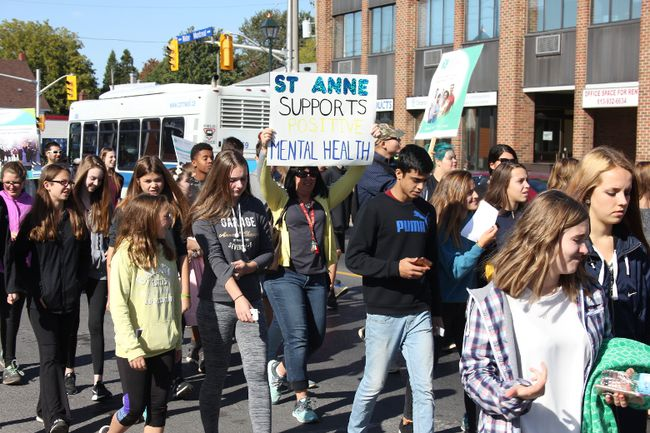 <p>Hundreds of supporters took to the streets to raise awareness at the CMHA Walk for Mental Health on Tuesday October 3, 2017 in Cornwall, Ont.</p><p>