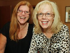Disrupt Kingston co-chairs Pennie Carr-Harris, left, and Brenda Palmer are looking forward to challenging the thinking of local business leaders at the second annual event at Memorial Hall on Thursday. (Julia McKay/The Whig-Standard)