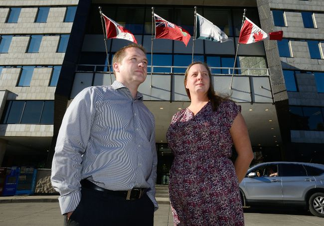 London city councillors Josh Morgan and Virginia Ridley are pushing for a change in complaints procedure at city hall that will keep council more in the loop and reduce fear for employees. (MORRIS LAMONT, The London Free Press)