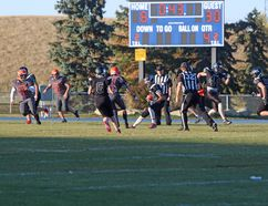 The George McDougall Mustangs (3-1) football team defeated the W.H. Croxford Cavaliers (1-3) 30-8 on Sept. 28 at Ed Eggerer Park.