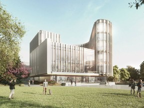 A rendering of the new $48-million home for the Sprott School of Business at Carleton University. The 100,000-square-foot building will be named the Nicol Buidling, in honour of Ottawa entrepreneur and Carleton alumnus, the late Wesley Nicol. (Photo provided by Carleton University)