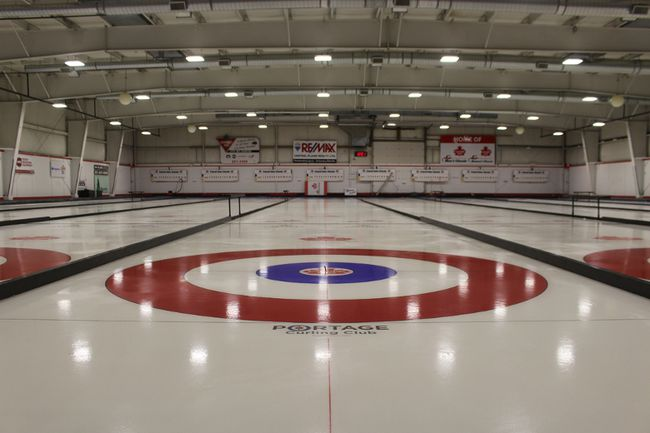 The rink is almost complete at the Portage Curling Club. Find out how to register for a league at their website. (Aaron Wilgosh/Graphic)