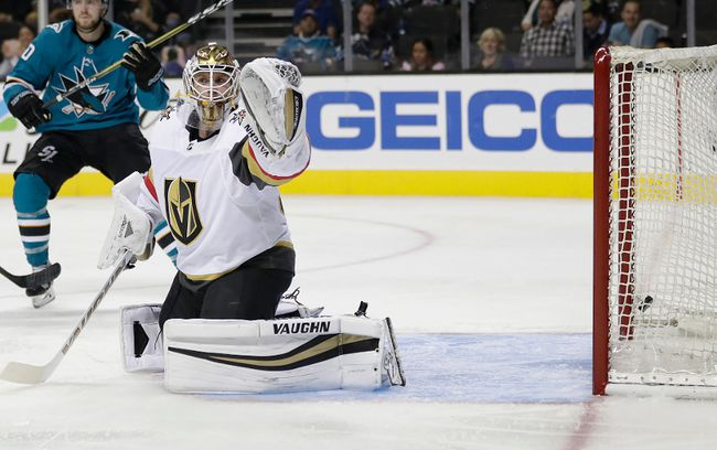 The Maple Leafs acquired goalie Calvin Pickard from the Golden Knights in exchange for minor-league forward Tobias Lindberg and a sixth-round pick in the 2018 NHL draft on Friday, Oct. 6, 2017. (Tony Avelar/AP Photo)