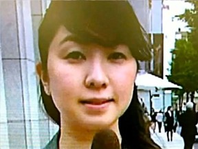 Miwa Sado, 31, was a political reporter for NHK, Japan's public broadcaster. (YouTube)