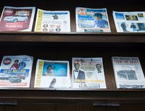<p>Postmedia newspapers are on display during the company's annual general meeting in Toronto on Thursday, January 12, 2017. </p><p> THE CANADIAN PRESS/Nathan Denette