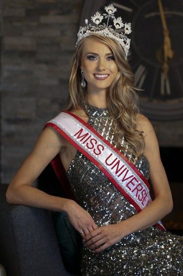 Toronto's Lauren Howe speaks to the Toronto Sun on Sunday, October 8, 2017, the day after she was crowned Miss Universe Canada 2017. (Stan Behal/Toronto Sun)