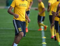 FILE PHOTO - Ajeej Sarkaria and the University of Alberta Golden Bears men's soccer team prepare to take on MacEwan University this weekend and keep hold of first place in their division.