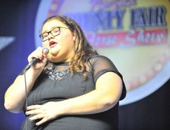 "Danielle Ward, 18, of Delhi, took top prize Monday night in the annual Norfolk Has Talent competition. The three-judge panel loved Ward's ""mature and seasoned"" rendition of Adele's When We Were Young. MONTE SONNENBERG / SIMCOE REFORMER"