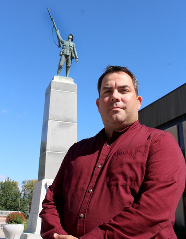 Rev. Marc Sceviour is seeking volunteers who want to participate in a 150-hour vigil at the Chatham Cenotaph from Nov. 5-11 as a special way to mark Canada 150 and all those who have made this the country that it is today.