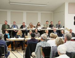Canmore's mayoral and council candidates at an all-candidates forum at the Canmore Seniors Centre on Wednesday, Oct. 4, 2017. Russ Ullyot/ Bow Valley Craga & Canyon/ Postmedia Network