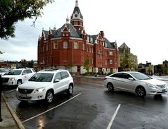 Members of Stratford's standing committee on infrastructure, transportation and safety dismissed a subcommittee recommendation Tuesday evening to have staff review a suggestion to make Wellington Street one-way to allow for the establishment of additional parking along city hall and Market Square. (Galen Simmons/The Beacon Herald)
