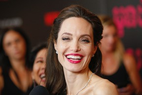 """Angelina Jolie attends a special screening of Netflix's """"First They Killed My Father"""" at the DGA theater in New York on Sept. 14, 2017. (Andy Kropa/Invision/AP)"""