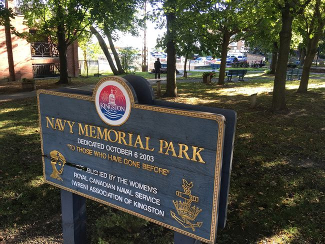 Local navy veterans are upset about the potential impact on Navy Memorial Park in Ontario Street that a proposed high-rise development could have in Kingston, Ontario on Thursday, October 12, 2017. Elliot Ferguson/The Whig-Standard/Postmedia Network