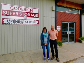 Wilma Hiemstra (left) with brother Doug Kuyvenhoven will be opening their business, 'Goderich Super Storage' in the upcoming months. (Kathleen Smith/Goderich Signal Star)