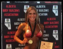 Angela Benoit placed third in the bikini masters category at the Muscle Beach Fall Classic in Edmonton.