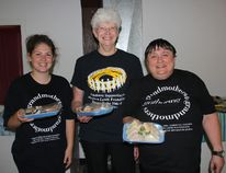 The Petawawa Grannis raised $1,200 at this year's GranApple Tea in support of the Stephen Lewis Foundation. Pictured here (from left) are volunteer Katrina Slusar, Petawawa Grannies secretary Jean Ostrom and Slusar's grandmother and volunteer Phyllis Goodwin.
