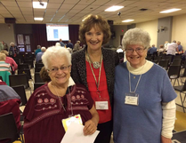 Local seniors celebrated the 35th anniversary of the educational program Learning Unlimited on Wednesday morning. From left Beth White, Dianne Older and Carol Hillsdon. HEATHER RIVERS/SENTINEL-REVIEW