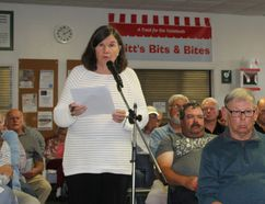 Elizabeth Thorne, chair of the Bruce Peninsula Biosphere Association, spoke at the Northern Bruce Peninsula public council meeting in Lion's Head, Oct. 10. Photo by Zoe Kessler/Wiarton Echo