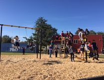 Senior students at Cold Lake Middle School enjoy their new play structure that was built this summer.