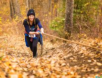 PHOTO BY Libor Fousek Vicky Parsons competes in the 10k race during the Tuffest 10 race last weekend at Nitehawk Year-Round Adventure Park.