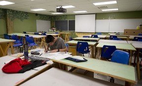 First-year Fanshawe College student Franco Chan, 17, of Richmond Hill, finds the faculty strike stressful because he can?t ask his landscape-design professor questions. ?We can?t learn new material, so will we fall behind?? he asks. (MIKE HENSEN, The London Free Press)
