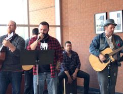 <p>Staff members and students at Holy Trinity Catholic School on Friday, Oct. 20, 2017, celebrated the life of Gord Downie, performing several songs in the school's atrium area.</p><p> Handout/Cornwall Standard-Freeholder/Postmedia Network