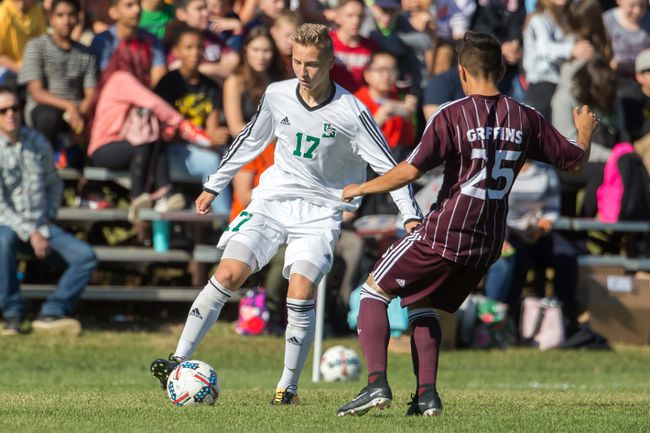 Photo credit Josh Schaefer/Huskie Athletics Aiden Taylor has thrived in his transition from high school soccer in Kenora to playing for the Saskatchewan Huskies in Canada West.