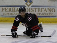 <p>Feisty and talented Cornwall Nationals captain Ahmed Mahfouz, during the warmup last Saturday at the civic complex, is one of many new players the franchise hopes will help draw more fans in 2017-18.</p><p> Handout/Cornwall Standard-Freeholder/Postmedia Network