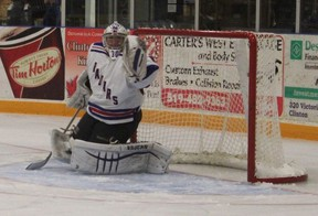 Nother (pictured) even picked up an assist in Friday night's fast-paced, entertaining hockey game against the Ripley Wolves. The Radars will travel to Shallow Lake this coming Friday to take on the Crushers.