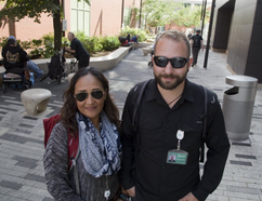 Miriam Rivera and Nick Scrivo are members of the Middlesex-London Health Unit's outreach team in London. Workers like these are combating a local HIV epidemic.