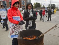 The strike of faculty at Fanshawe College continues in London. (MIKE HENSEN, The London Free Press)