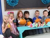 Vermilion Elementary School Grade 1 students painted and carved colourful pumpkins in celebration for their favourite time of year, Halloween, on October 30.