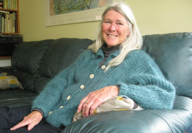 Retired Violence Prevention Grey Bruce Committee co-ordinator Colleen Purdon looked back on her 20 years with the committee in an interview Wednesday in her Owen Sound home. Scott Dunn/The Sun Times